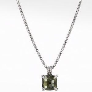 David Yurman Necklace Green Orchid and Diamonds